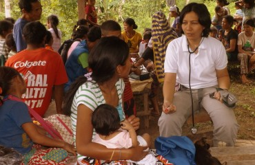 Elaine Villaneuva (Weeyaa) during Health Outreach in the Sitios