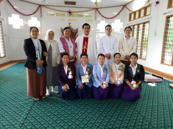 Sisters in Myanmar with Postulants and Novices