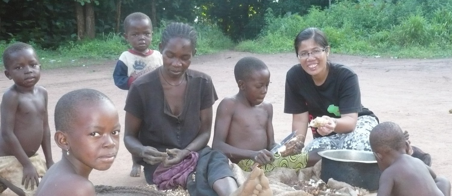 Rosa Visiting farmers in SSS