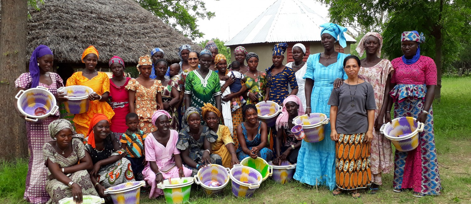 women's empowering activities in Ndondol, Seria and Dorothy working with them