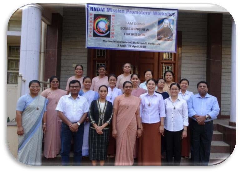 RNDM MISSION PROMOTERS' WORKSHOP, South India 2018 - RNDM