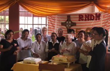 Singing Happy Golden Jubilee at Hogar Belen Moquegua