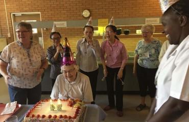 Sister Aileen Gleason on her 94th birthday